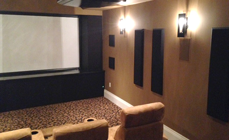 Custom Media Centre in Basement Design