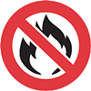 Top Fireproof Rating Sticker