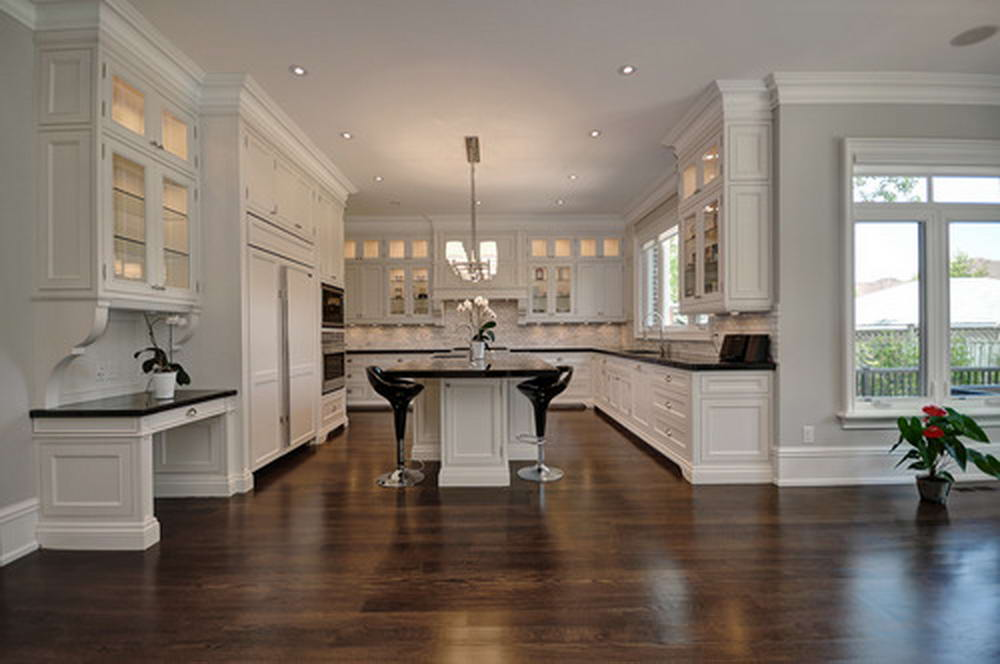 Interior Kitchen Renovation with Hardwood Flooring Oakville