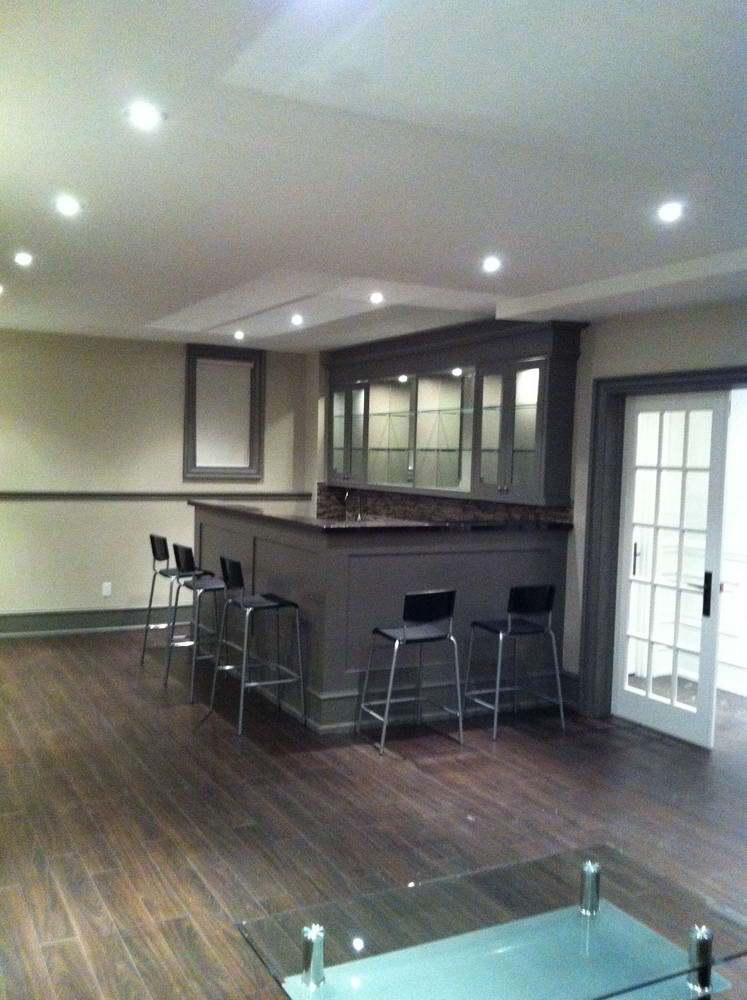 Basement Kitchen and Bar Addition