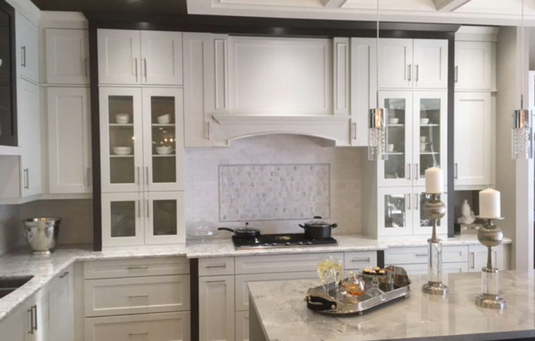 Home Kitchen Renovation in White and Grey