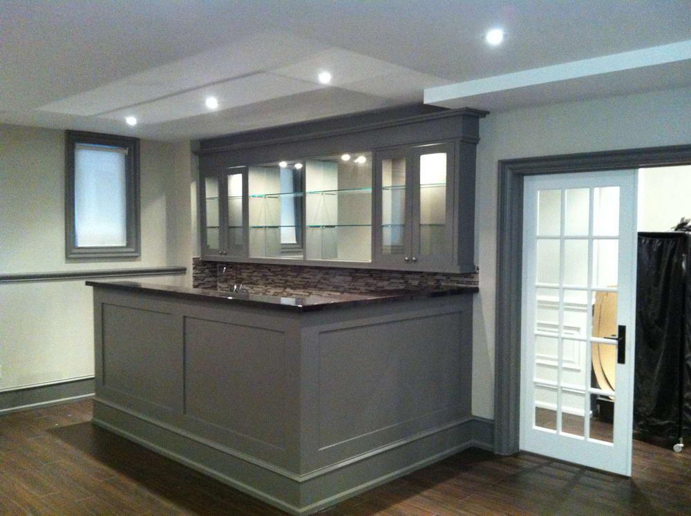 Custom Bar Addition, Shelving Uni and Pot-Light Installation