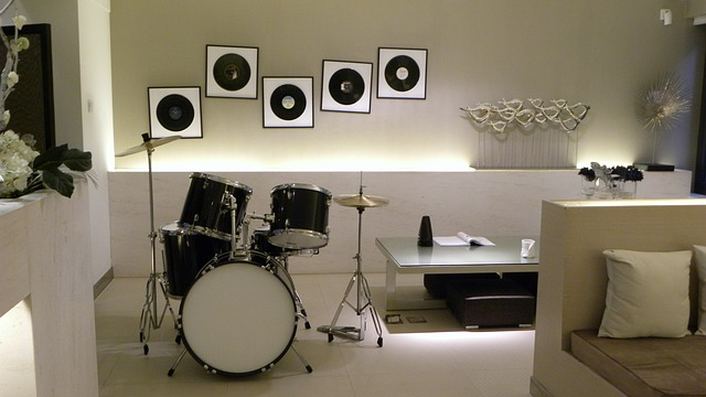 Drum Set in New Basement Remodelling Project