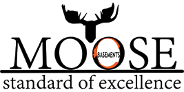 Moose Basements Transparent Logo and Orange Letter