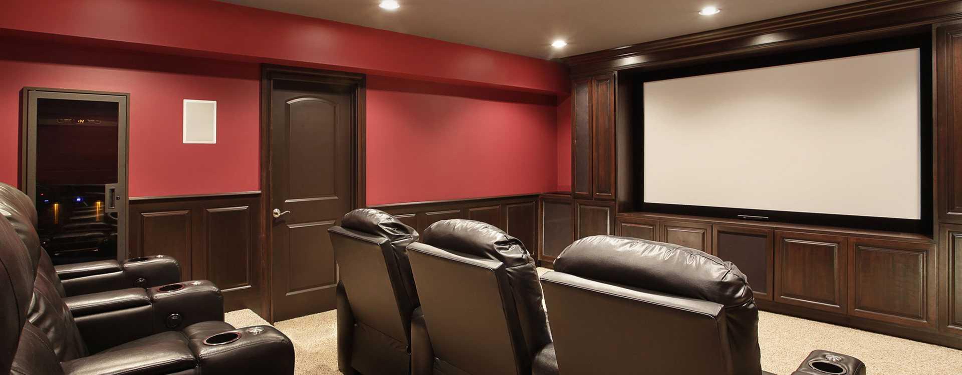 home theater basement renovation