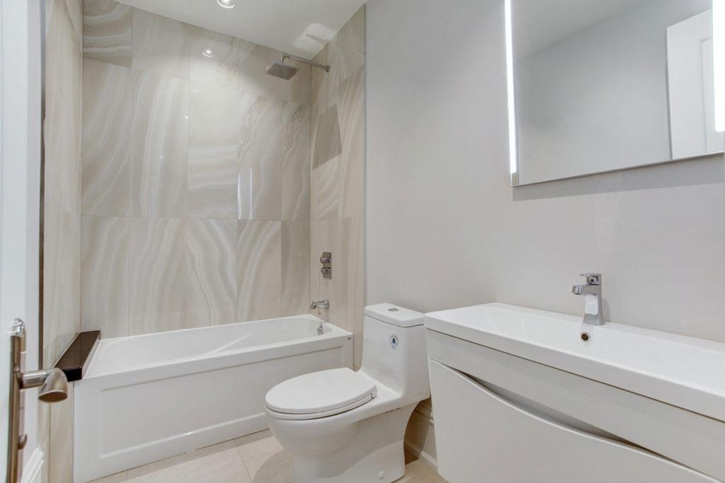 Bathroom Interior in Basement Renovation