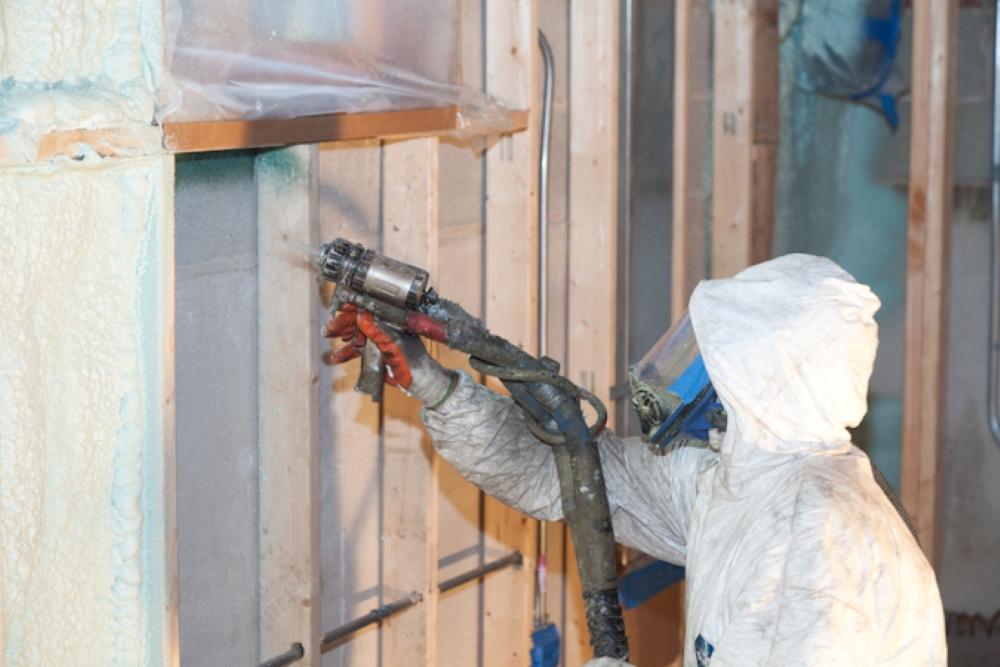 Photo of Contractor spray Foam Insulation