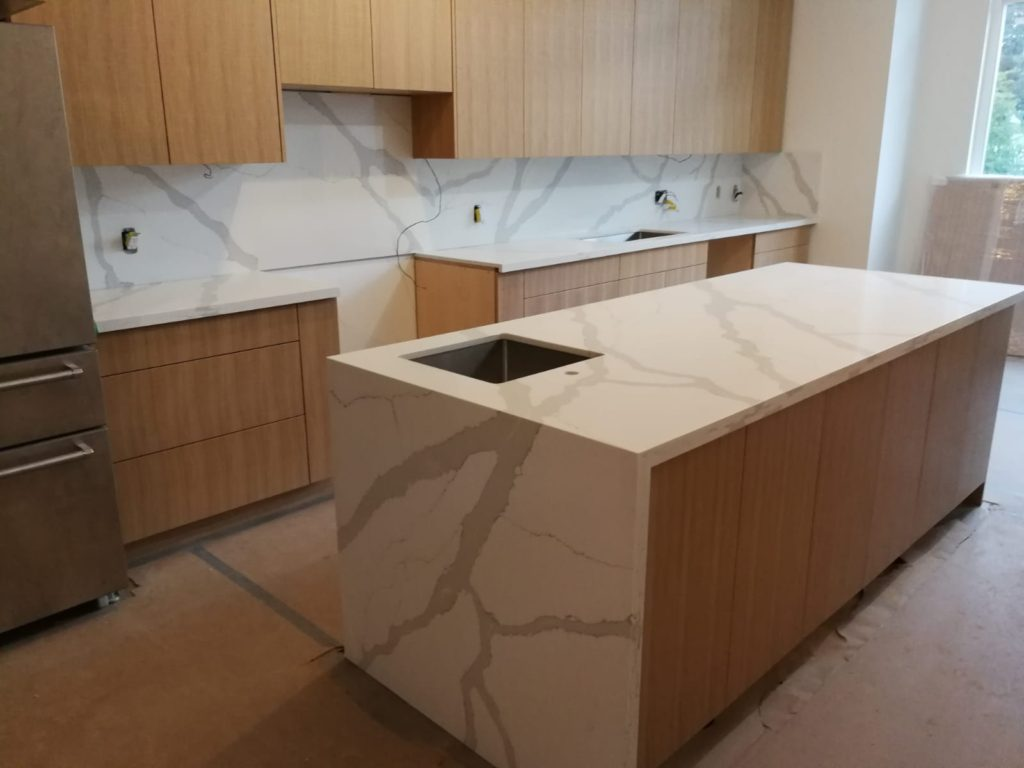 White Marble Kitchen Design