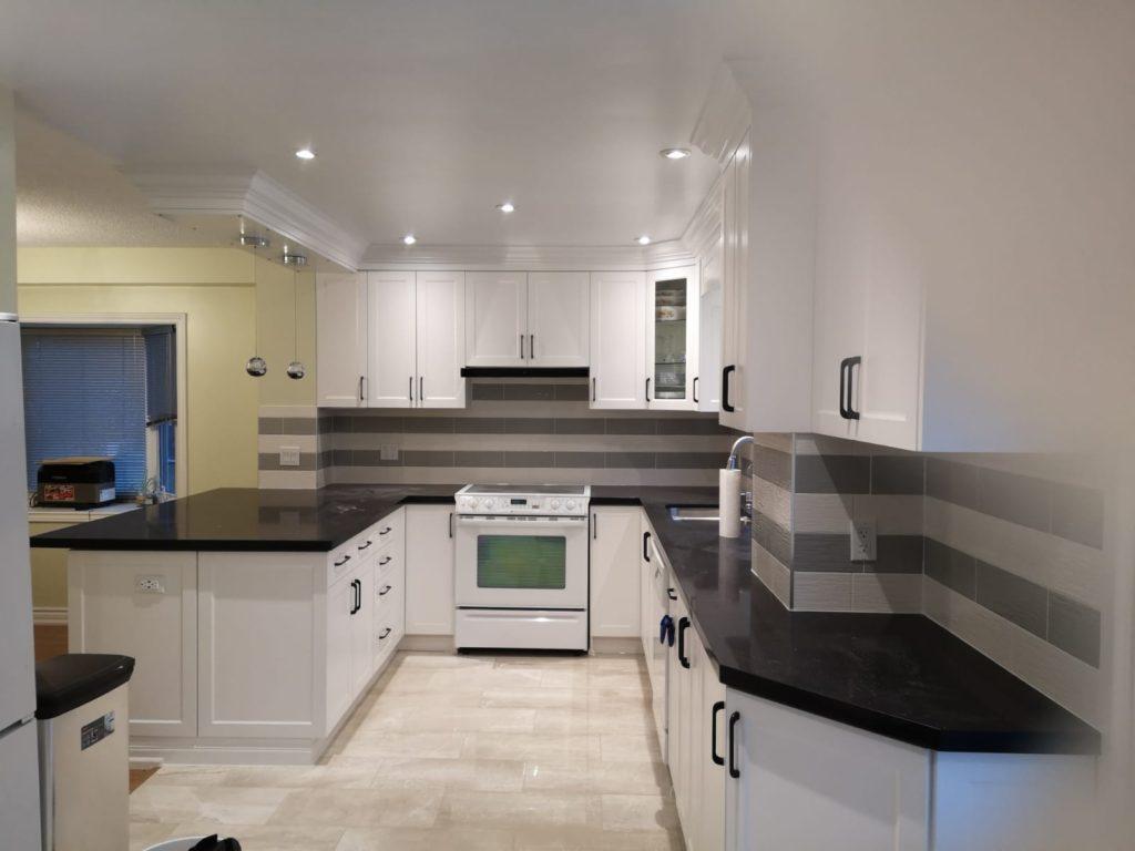 Modern kitchen installed