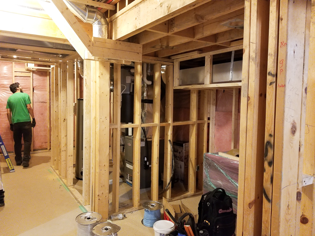 Basement Finishing Framing Image
