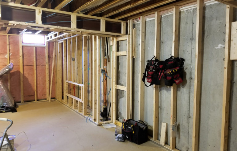 Basement Framing Before Renovation