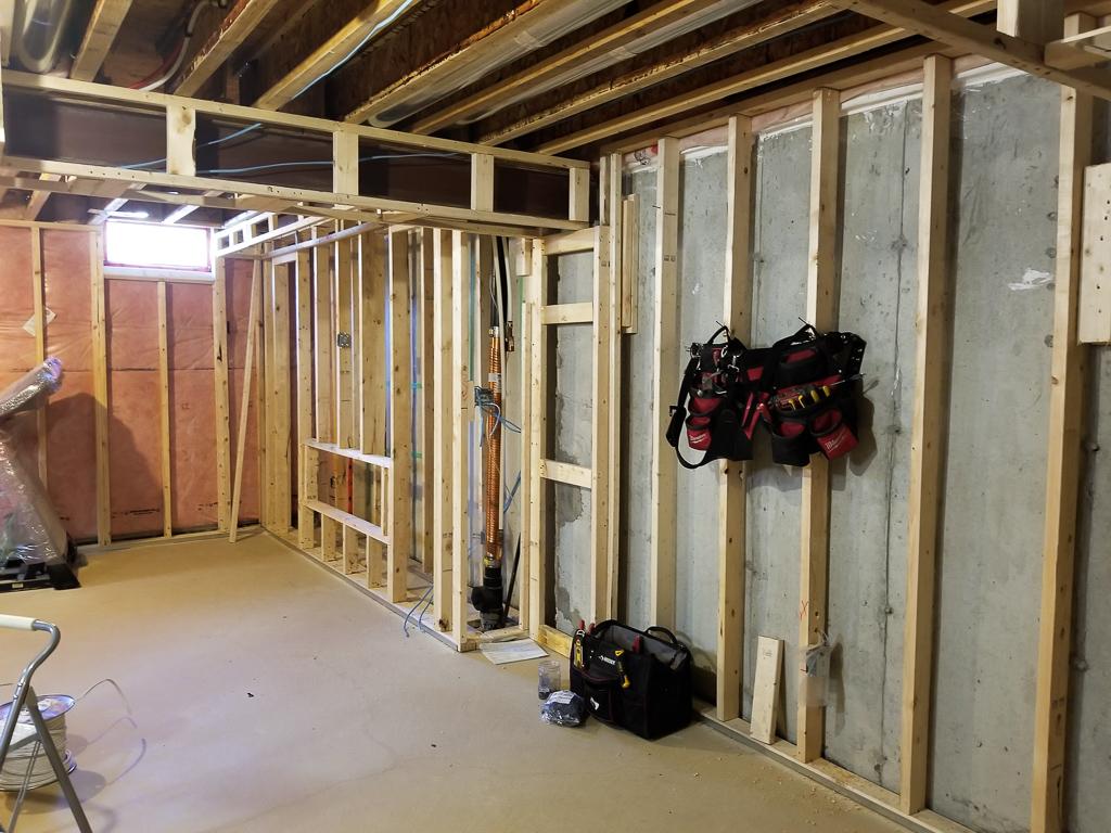 Basement Framing Before Renovation