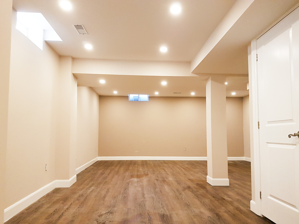 Basement Living Room Remodeling Image