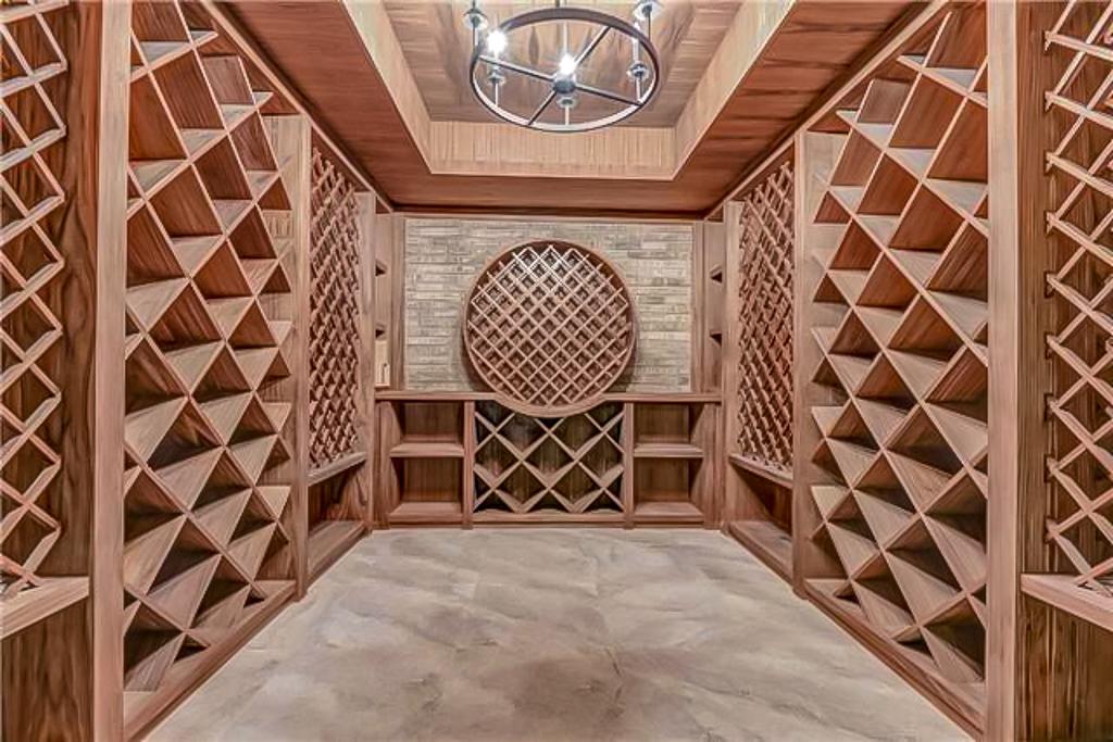 custom basement finish with wine cellar Newmarket