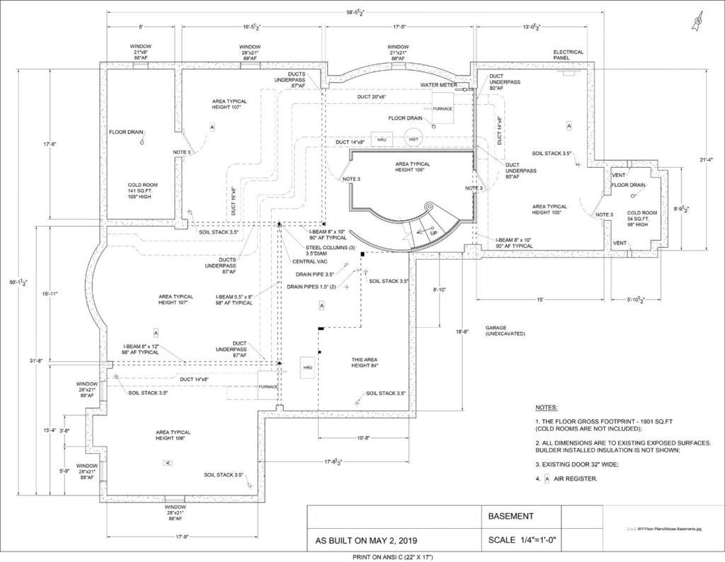 1901 SQFT Basement Floor Plan