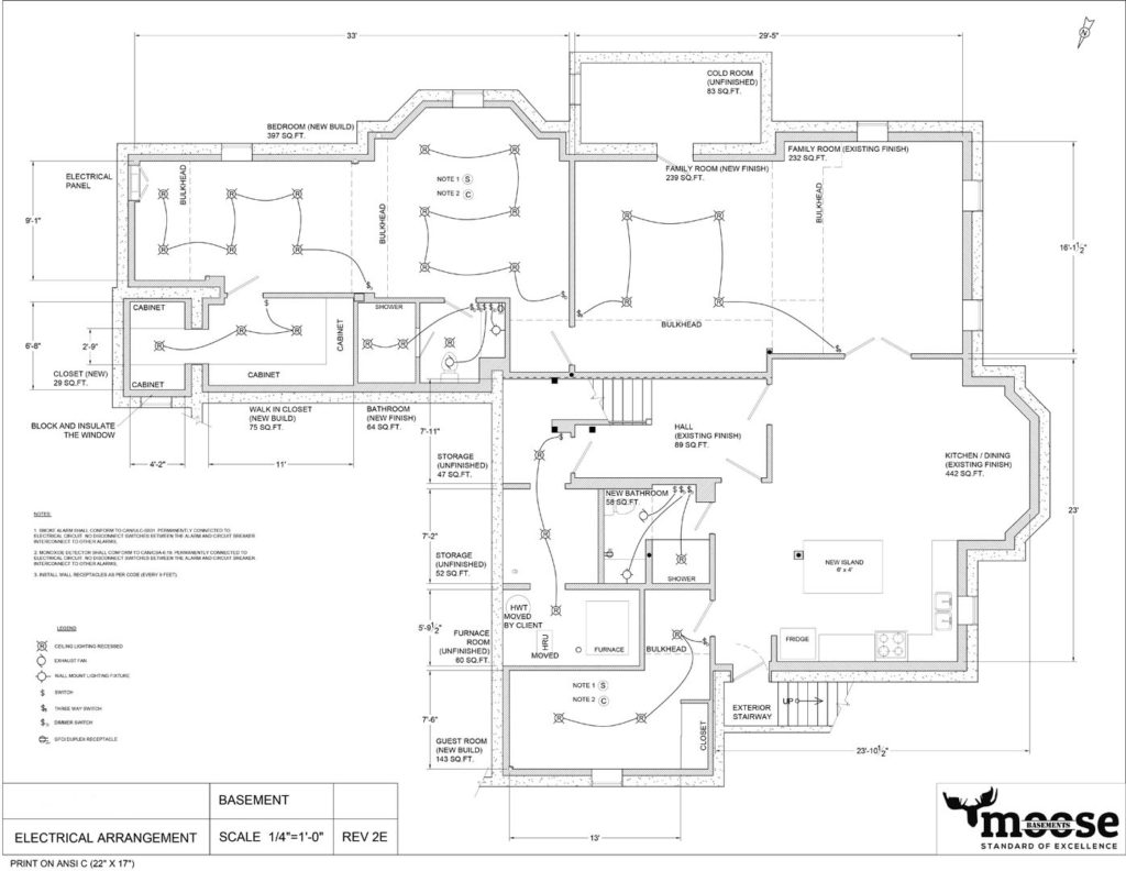 1927 SQFT Basement Floor Plan