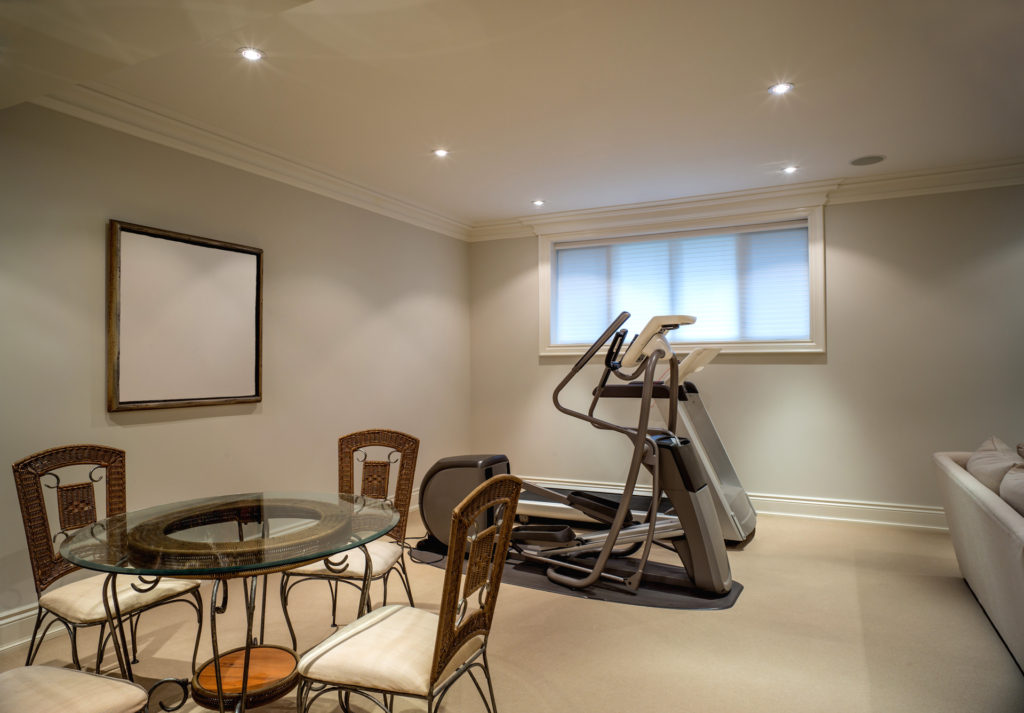 luxury basement remodeling in North York - privet GYM