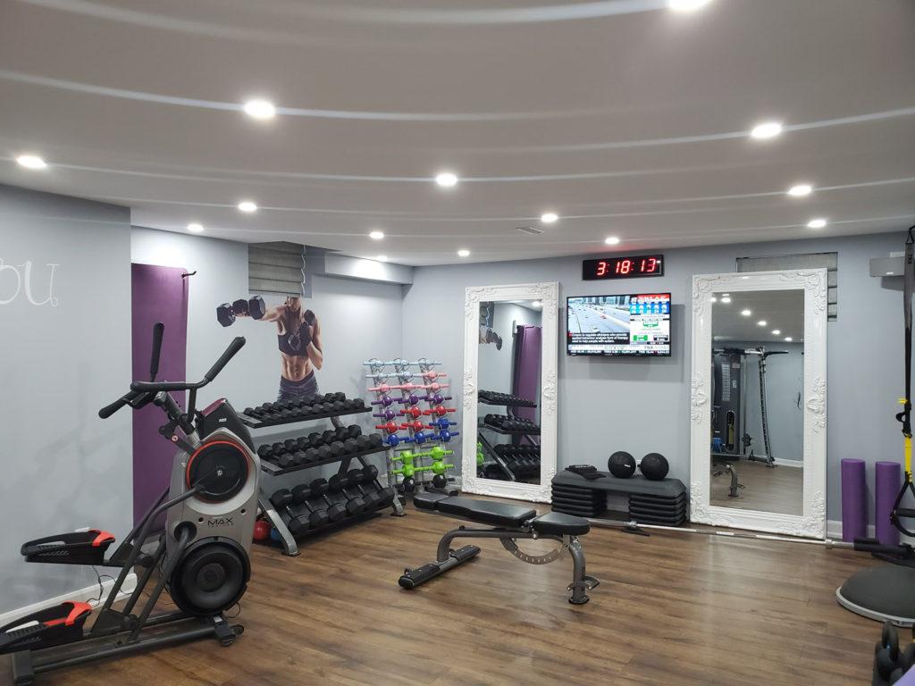 custom basement gym - basement ideas