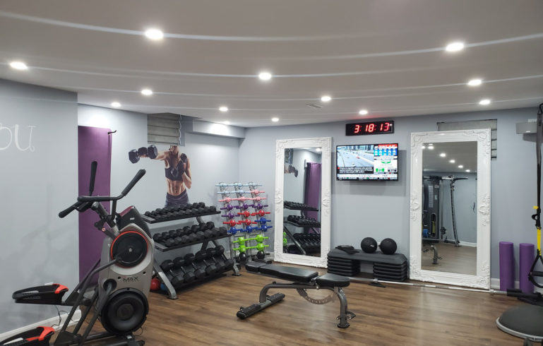 Finished Basement Gym in Toronto