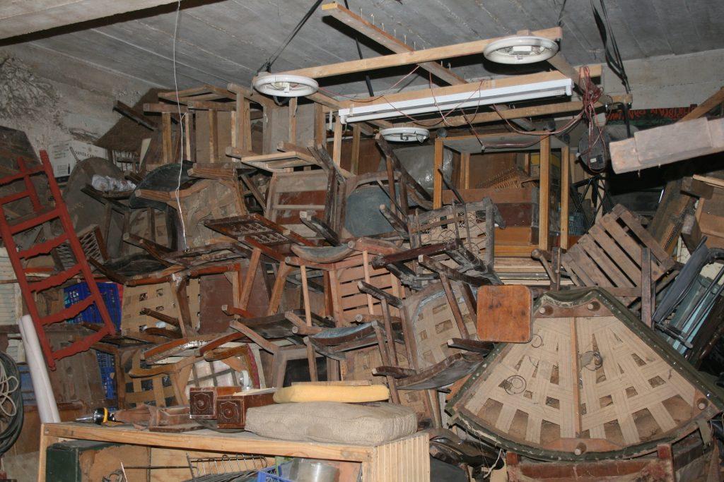 photo of basement full of items