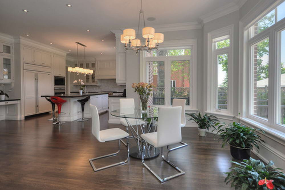 Custom Home Design with Small Dining Room and Classic Kitchen Design Etobicoke