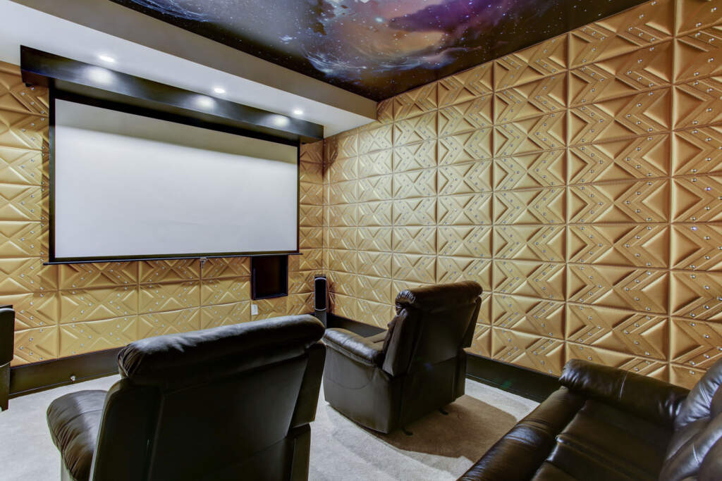 Custom Basement with Home Theater - Basement Finishing Scarborough