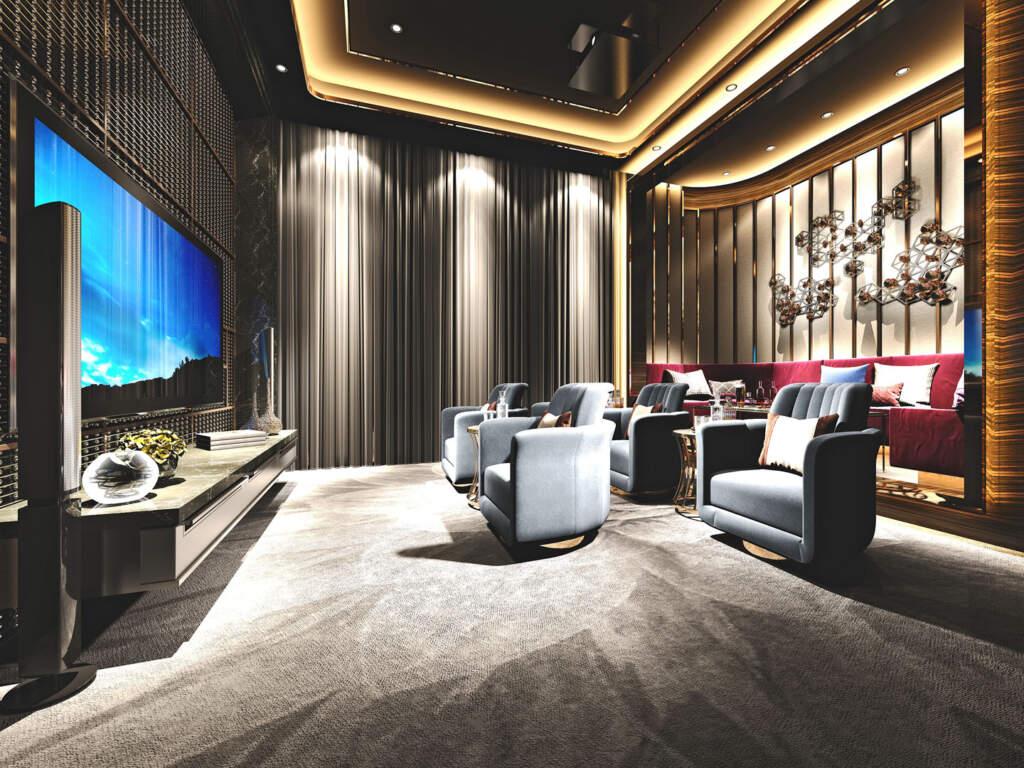 Amazing Home Theater Design by Moose Basements Renovation Burlington