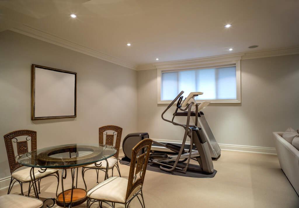Finished Basement Gym Design by Moose Basements Vaughan