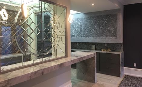 Amazing Basement Design with Custom Kitchen - Basement Renovation Vaughan
