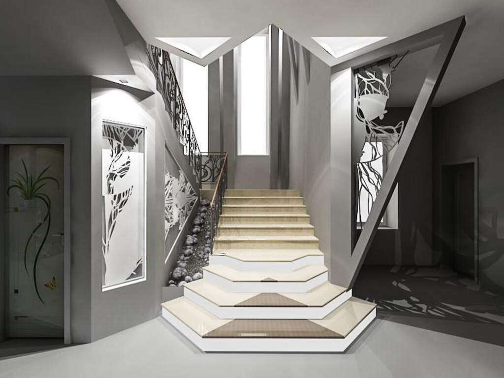 Custom Basement Staircase with Steel Railings and Wooden Stairs  - Basement Remodeling Contractors Newmarket