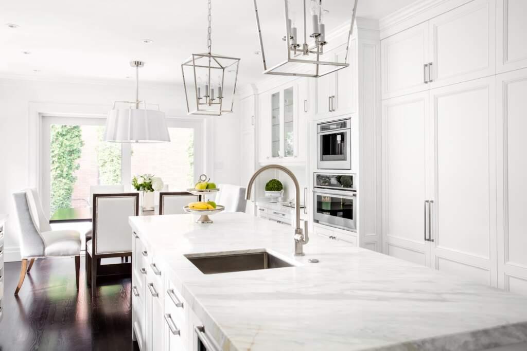 Modern White Kitchen Remodeling by Moose Basements